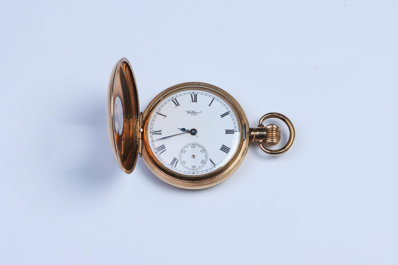 A Waltham Half-Hunter Pocket Watch,