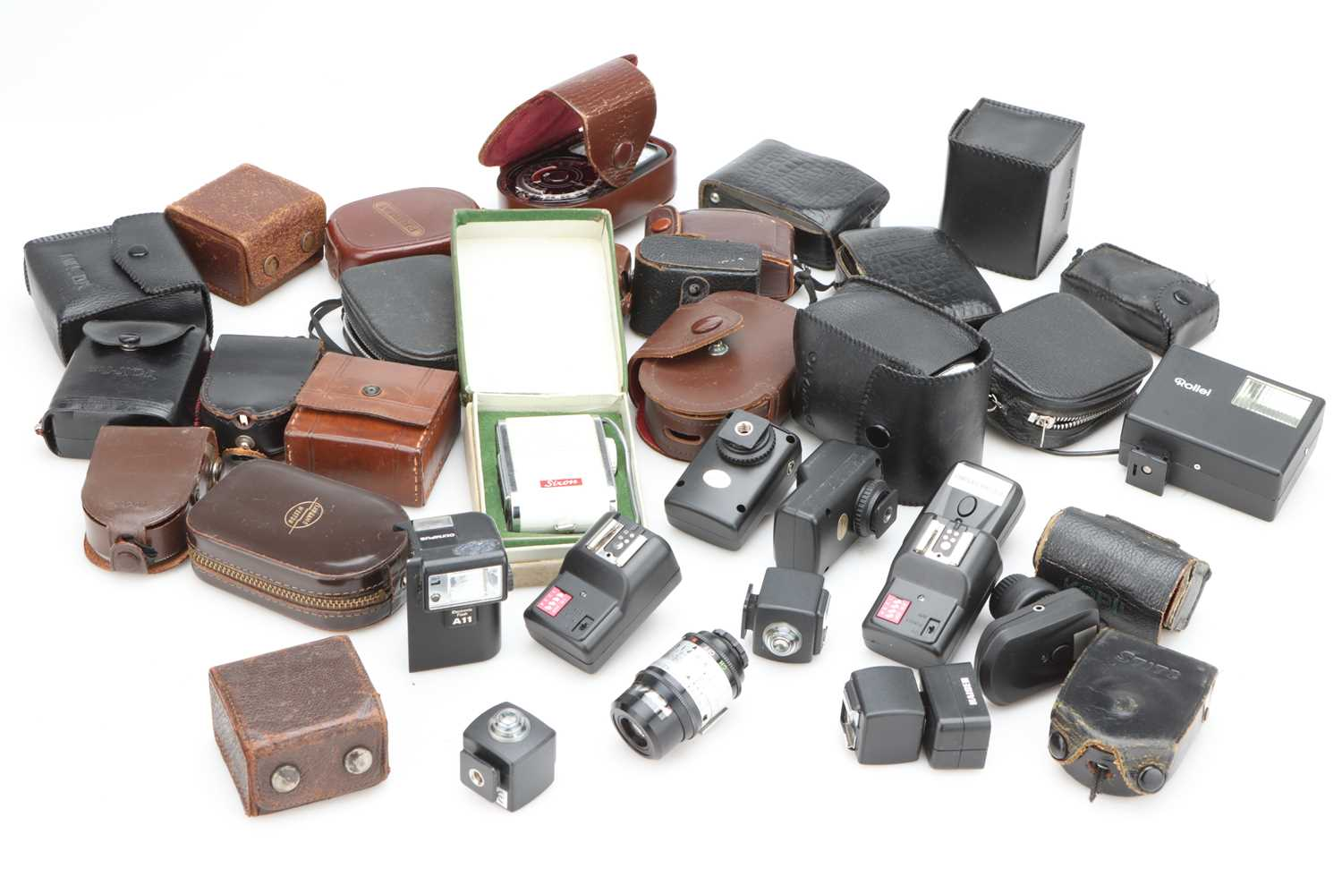 A Selection of Various Light Meters & Flash Equipment,