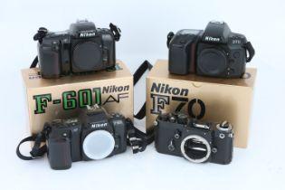 A Selection of Four Nikon SLR Bodies,
