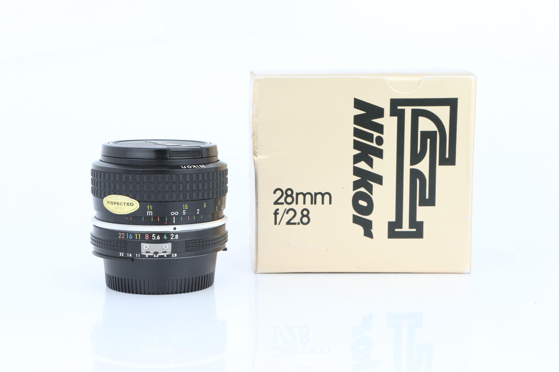 A Nikon Ai Nikkor f/2.8 28mm Lens