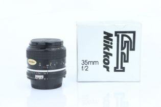A Nikon Ai Nikkor f/2 35mm Lens,