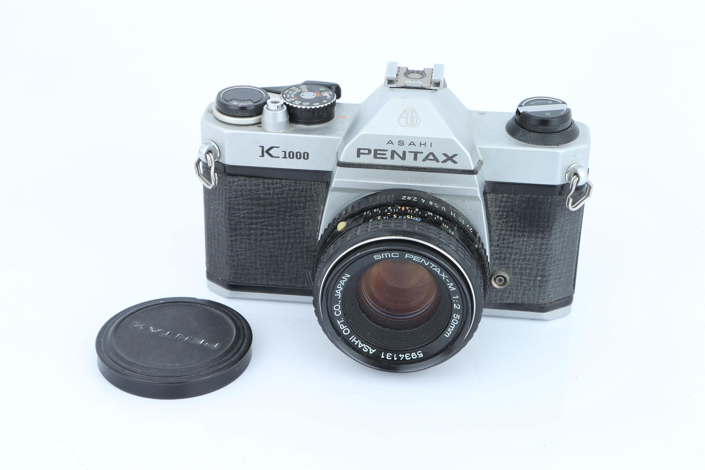 A Pentax K1000 SLR Camera,