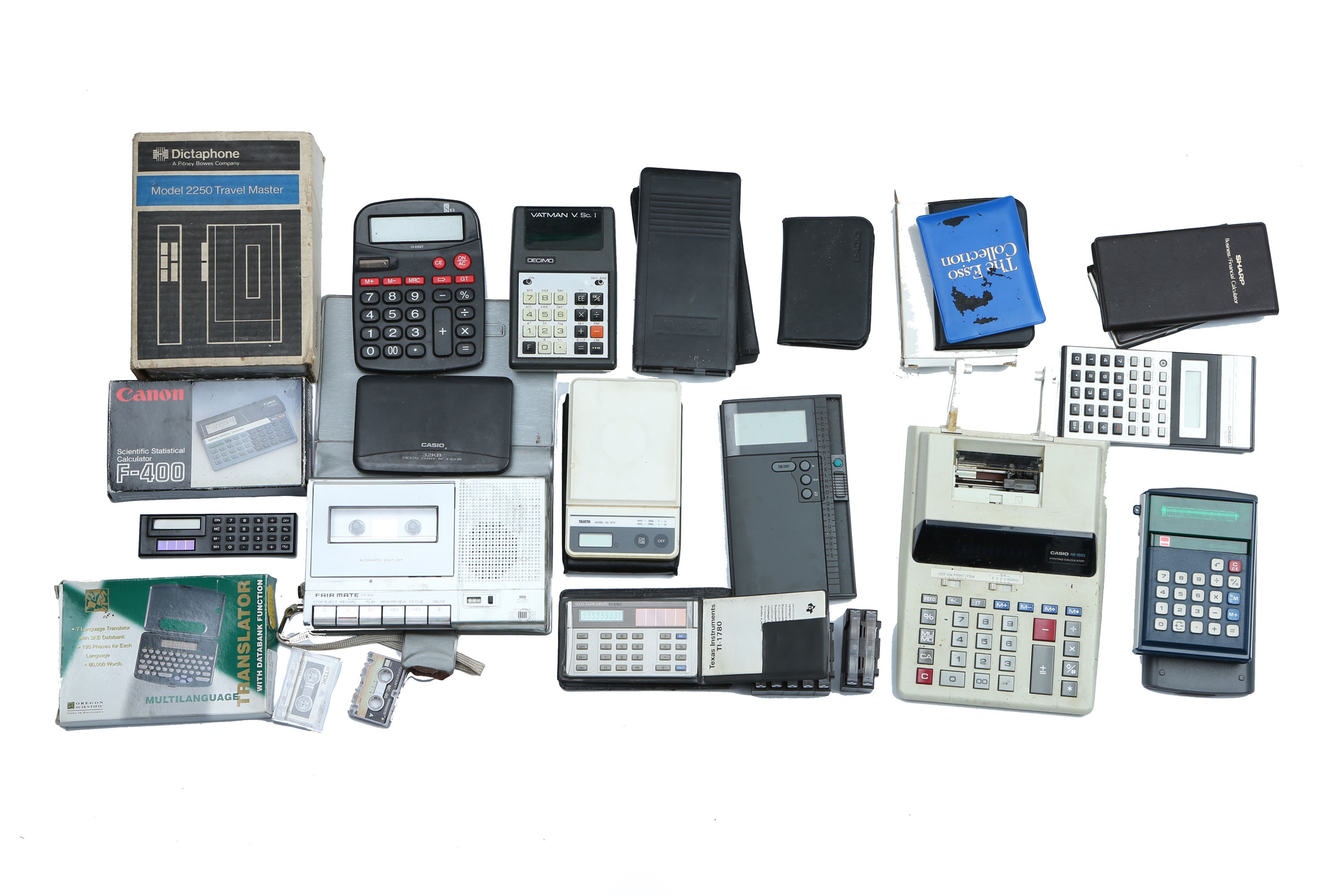 A Selection of Calculators & Early Technology,
