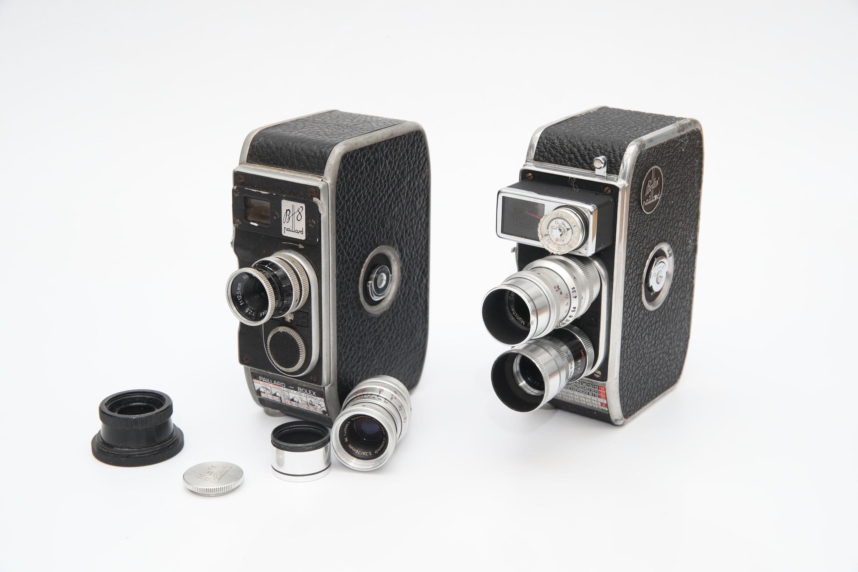 Two Bolex 8mm Cine Cameras,