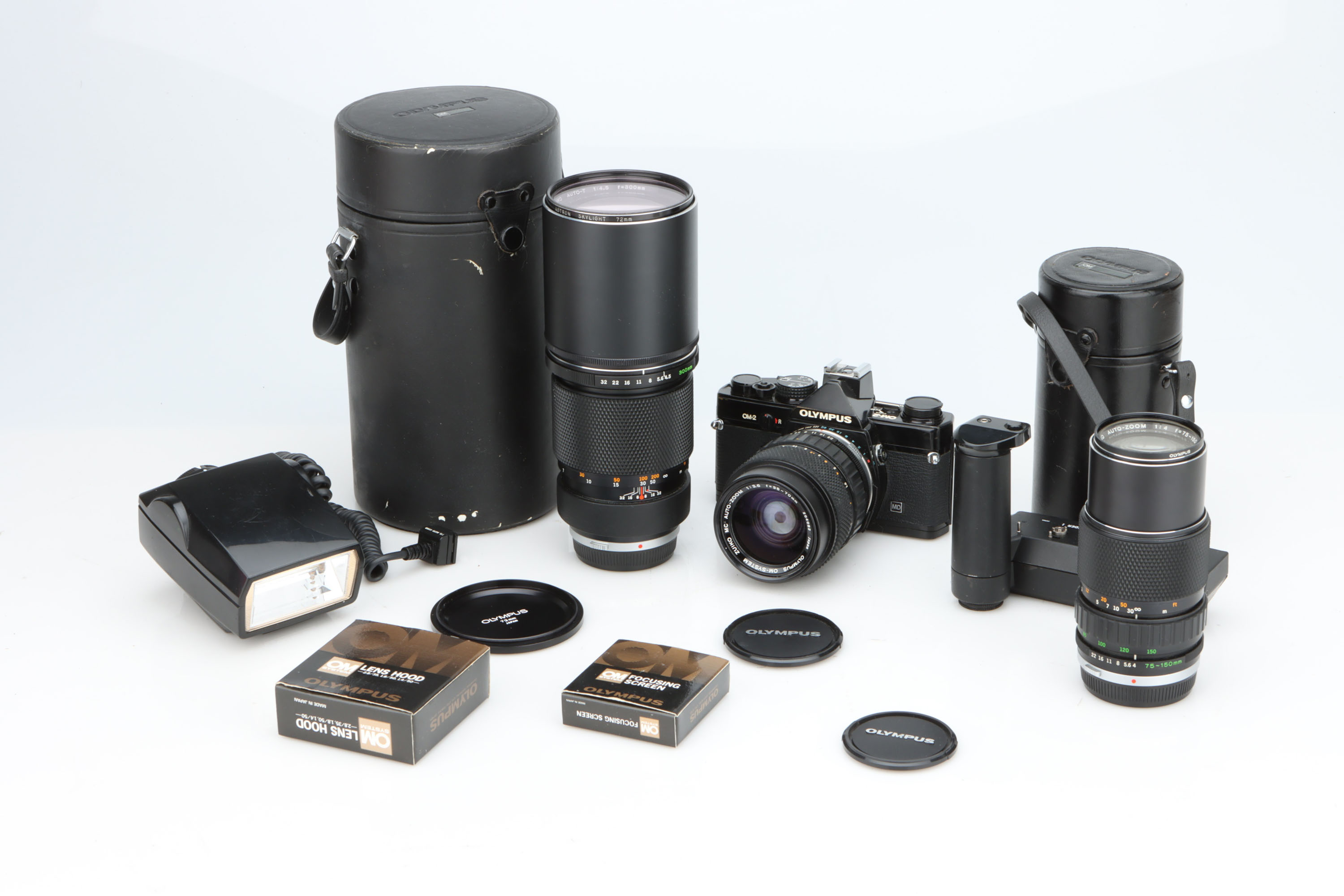 An Olympus OM-2 SLR Camera Outfit,