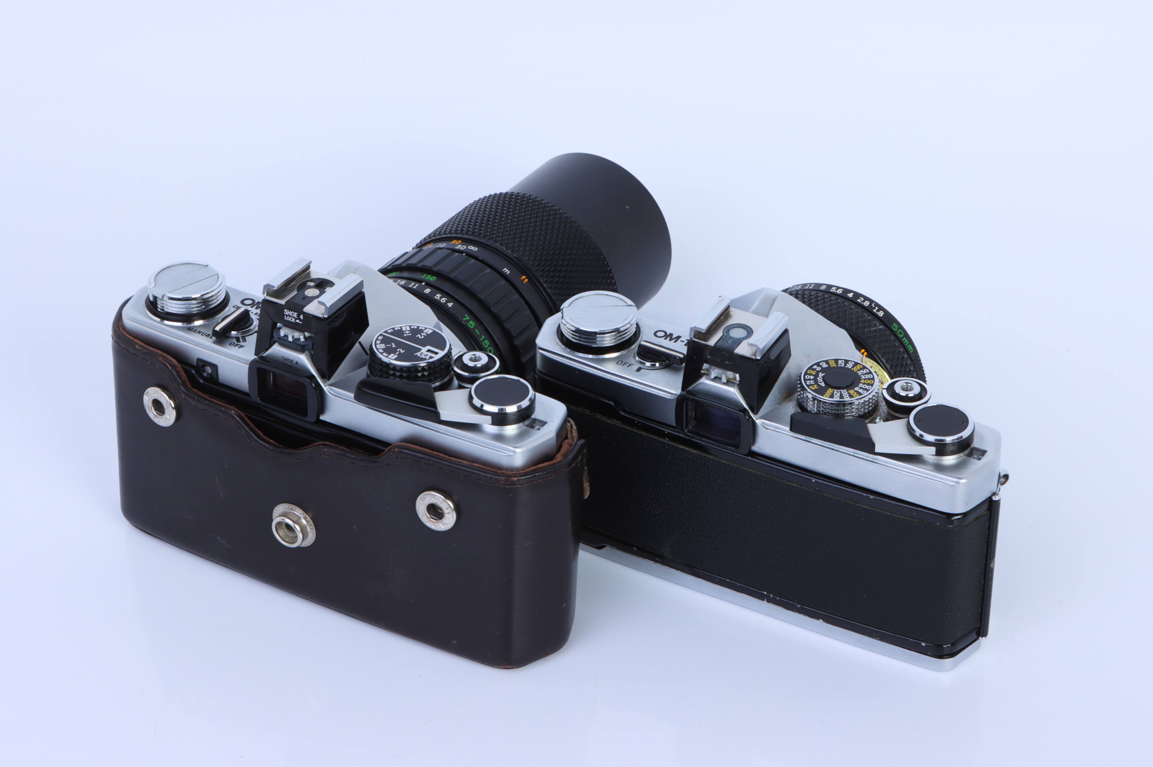 Two Olympus OM SLR Cameras, - Image 2 of 2