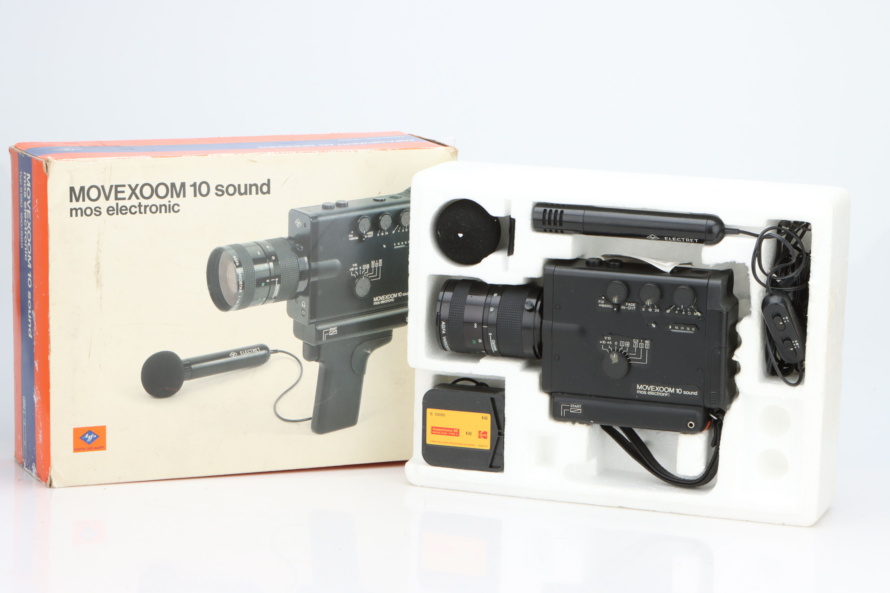 An Agfa Movexoom 10 Sound Video Camera,