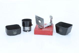 Four Leica Lens Hoods,