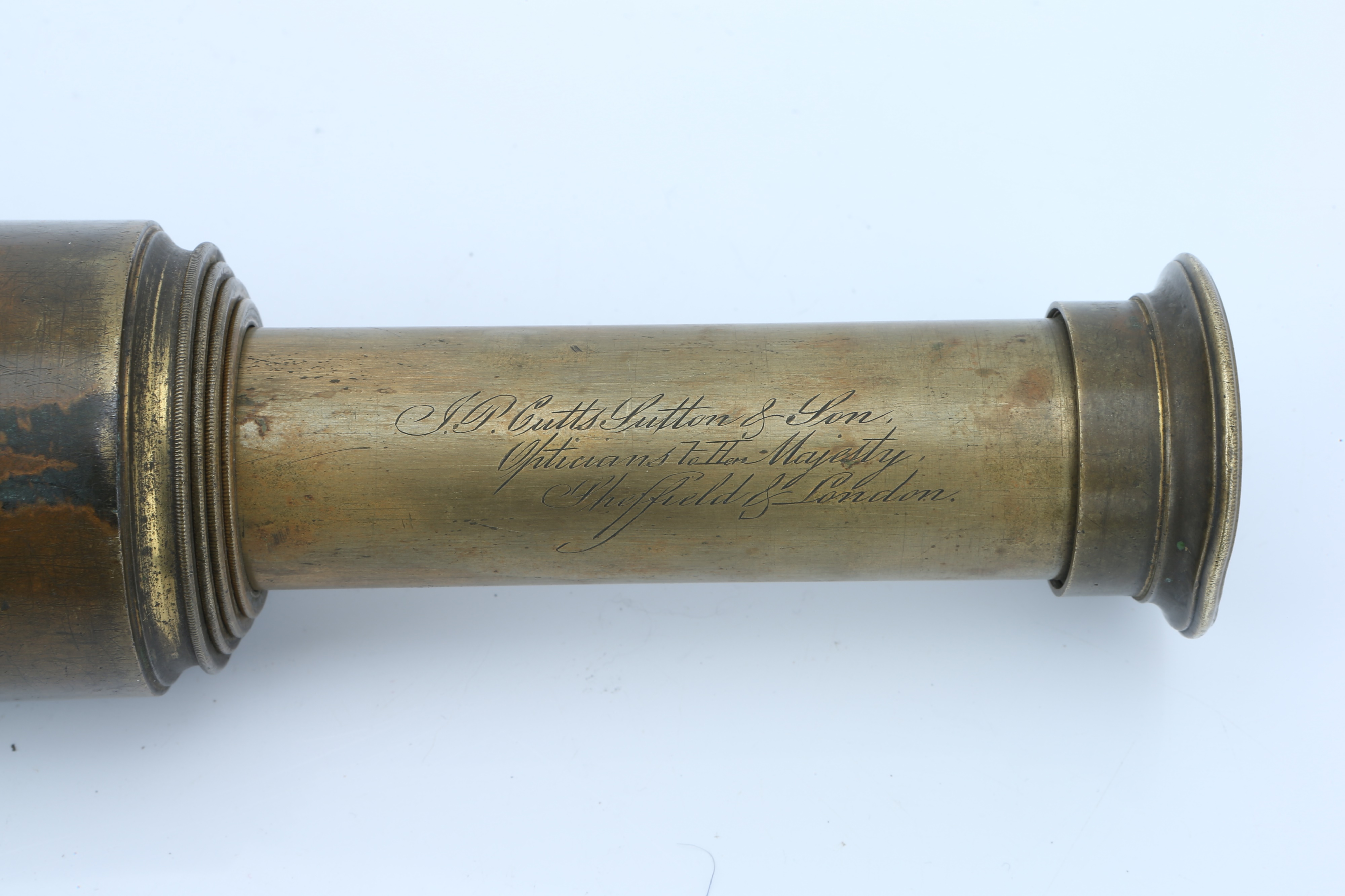 Two Victorian Brass Telescopes, - Image 2 of 2