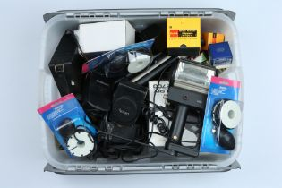 A Large Selection of Various Camera Accessories,