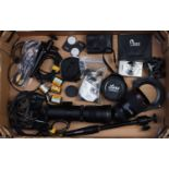 A Small Selection of Various Camera Accessories,
