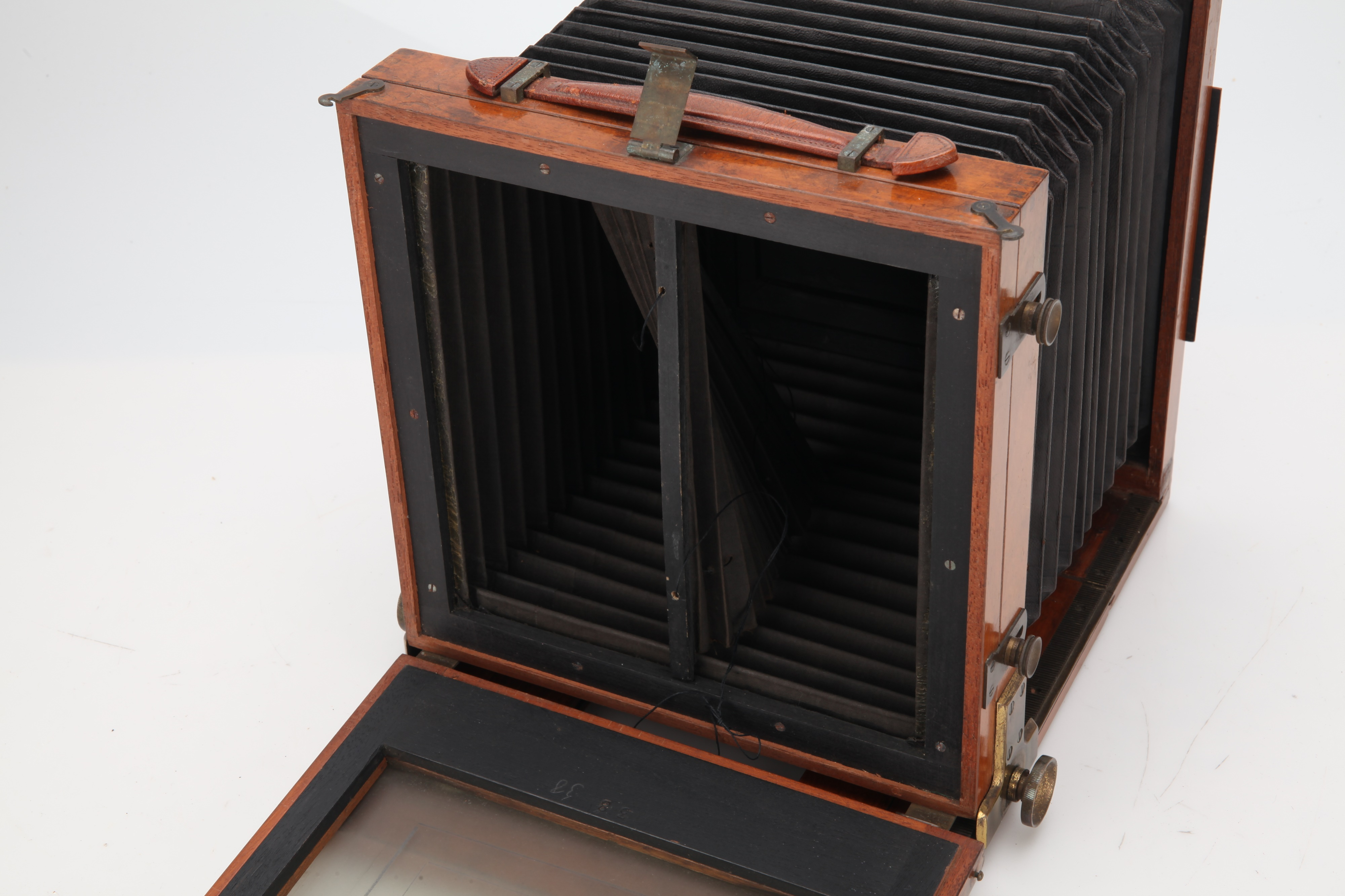 An Unmarked Stereo Mahogany & Brass Field Camera, - Image 2 of 3