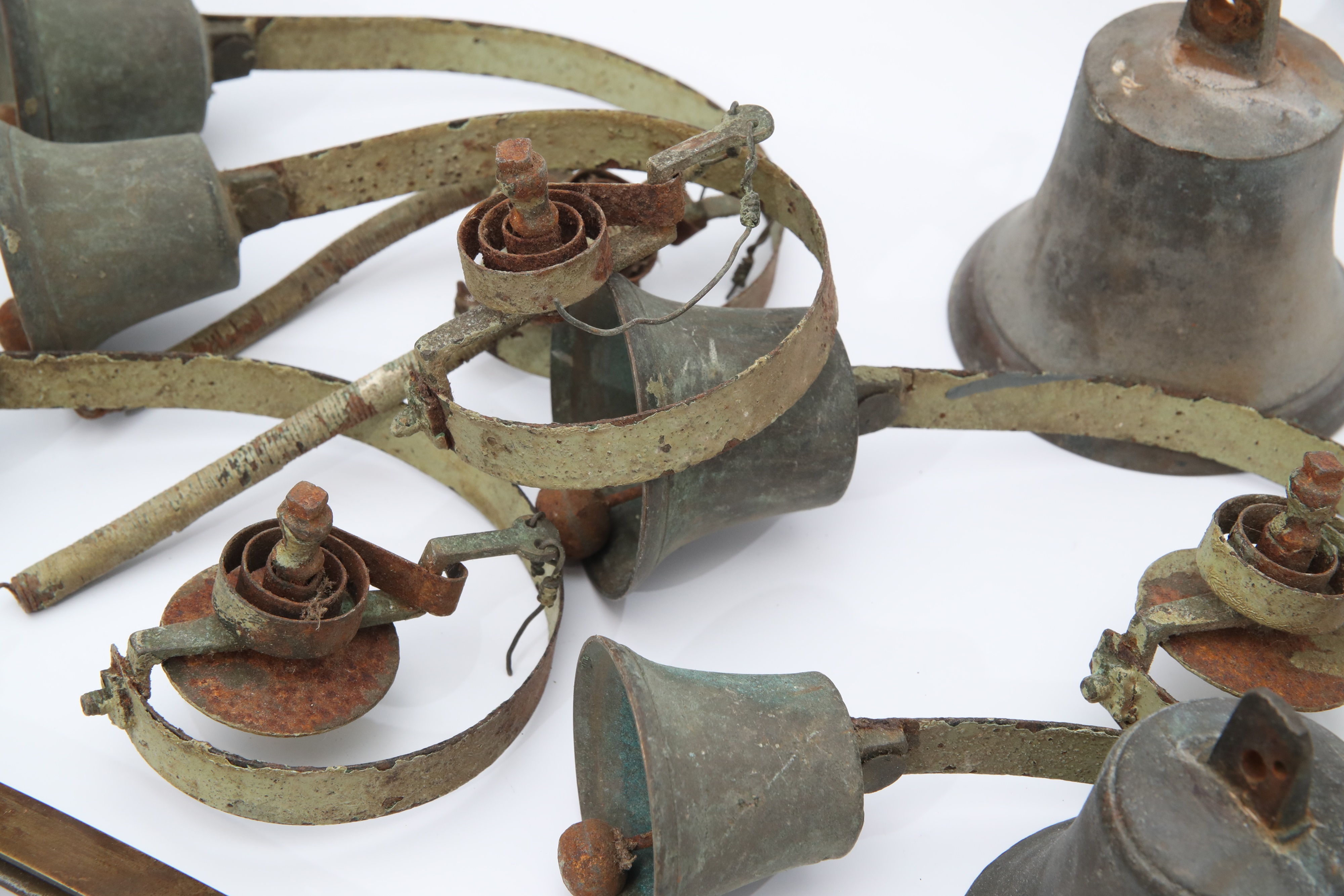 Collection of Eight Early Shop Door Bells, - Image 2 of 2