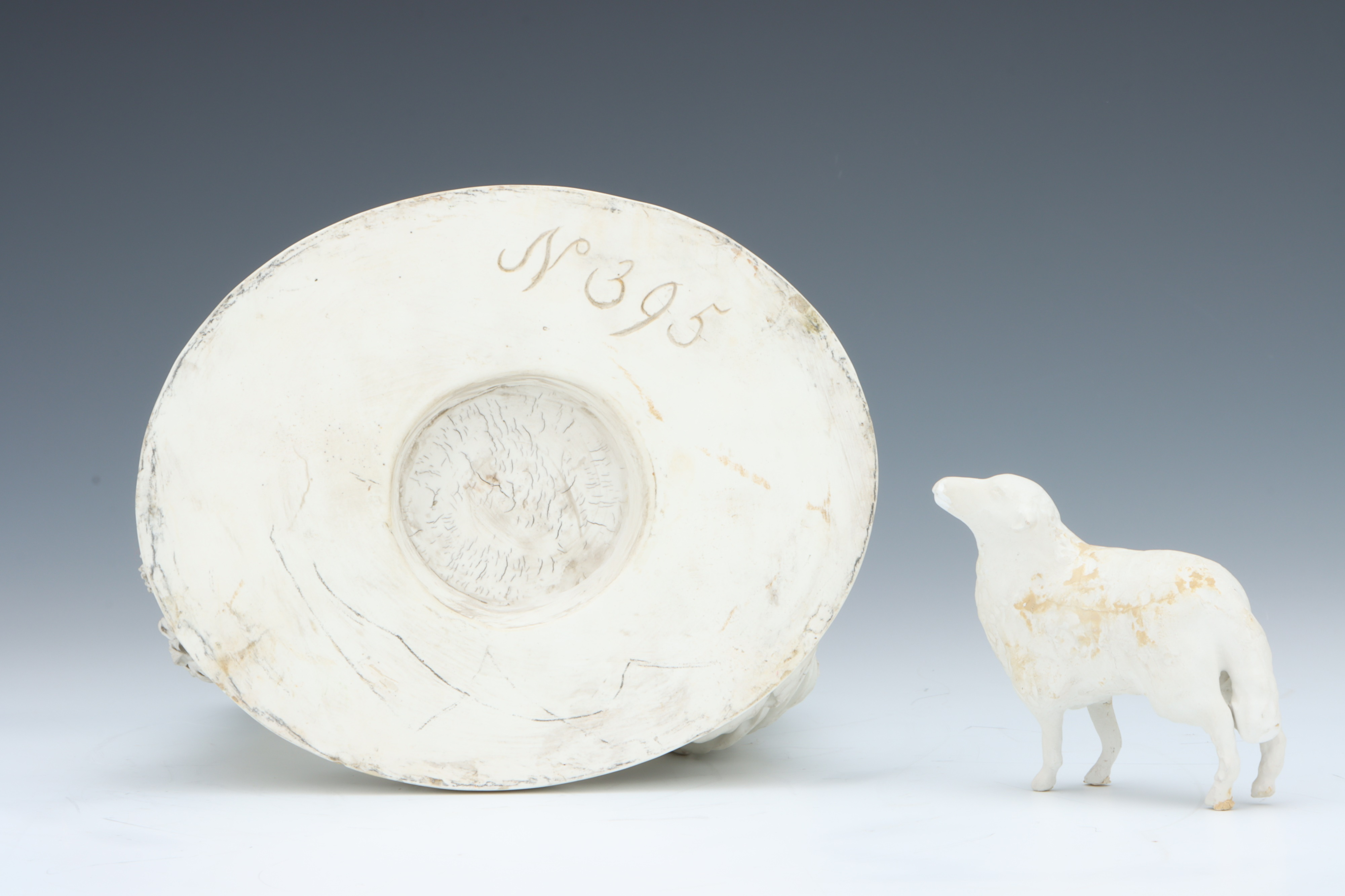 A Rare Derby Biscuit Figure of a Shepherdess, - Image 2 of 5