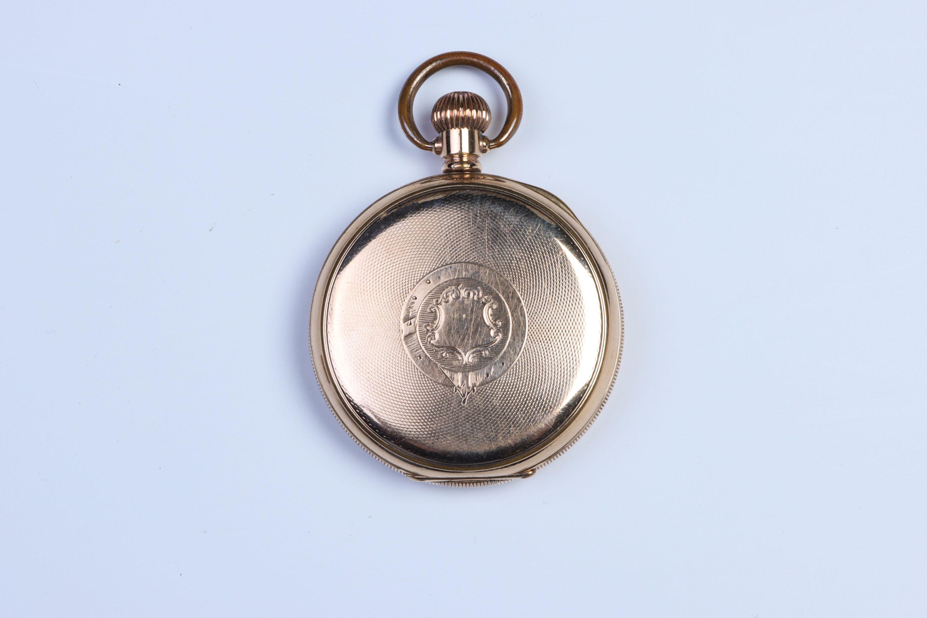 A Gold-Plated Pocket Watch, - Image 3 of 3