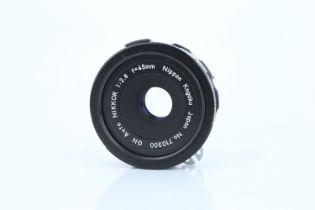 A Nikon Nikkor GN Auto f/2.8 45mm Lens,