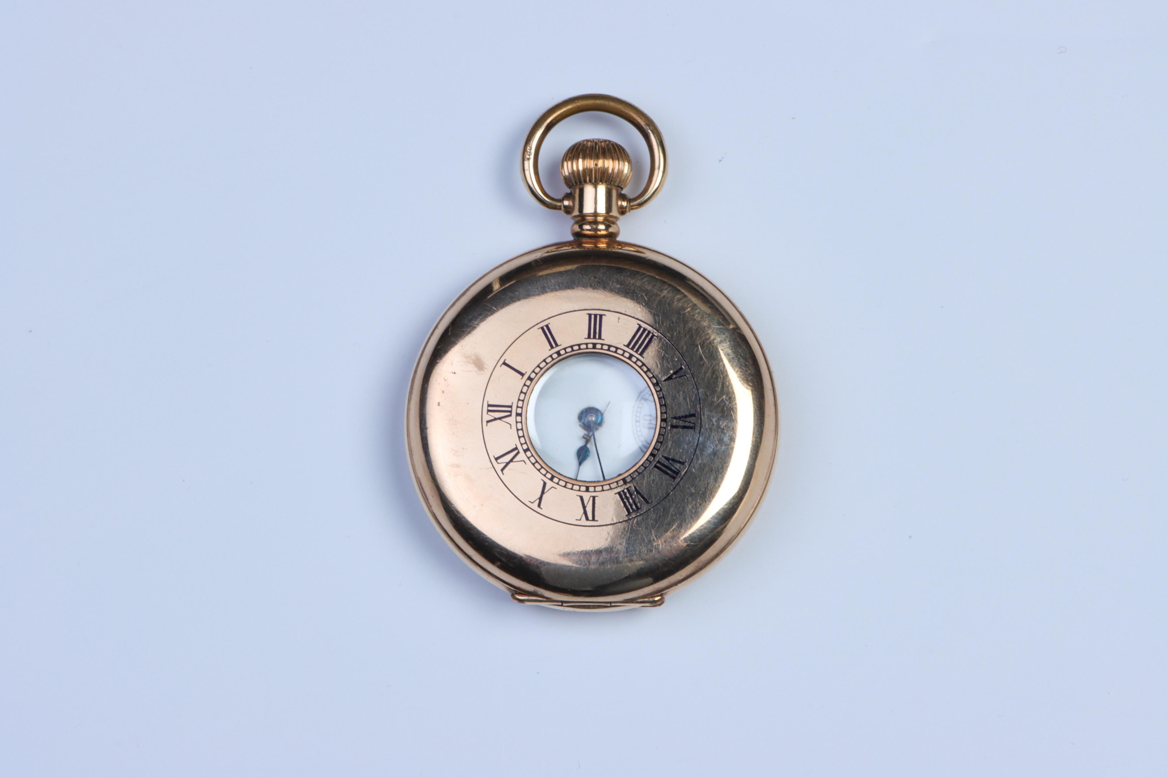 A Waltham Half-Hunter Pocket Watch, - Image 2 of 3
