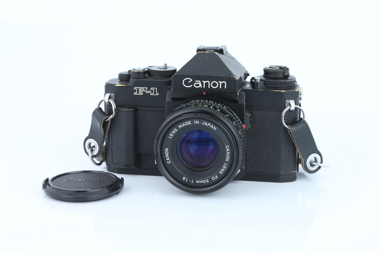 A Canon F-1 New SLR Camera,