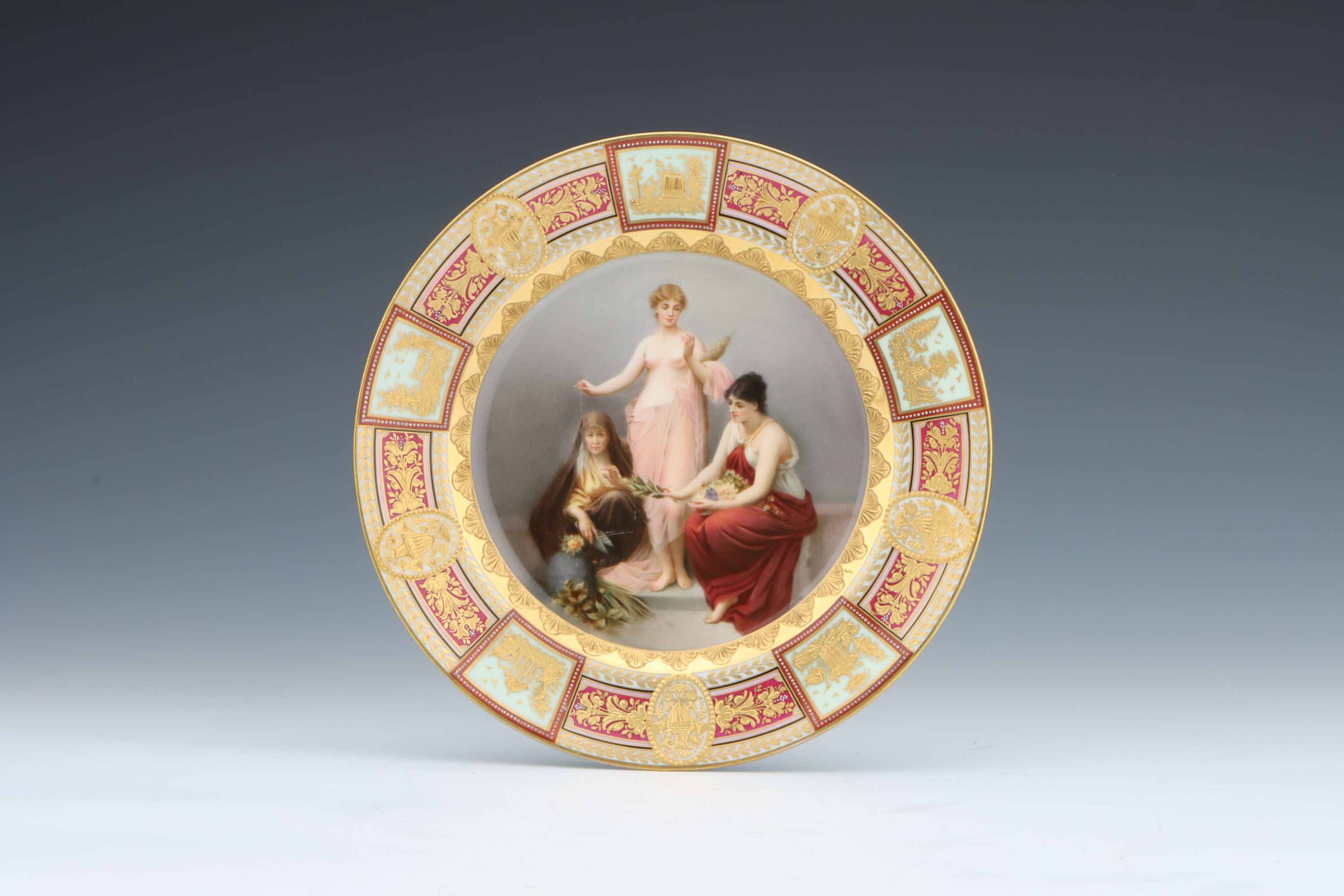 A Vienna Style Porcelain Cabinet Plate,