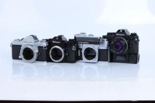 Four Nikon SLR Bodies / Cameras,