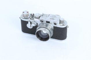 A Leica IIIc Rangefinder Camera,