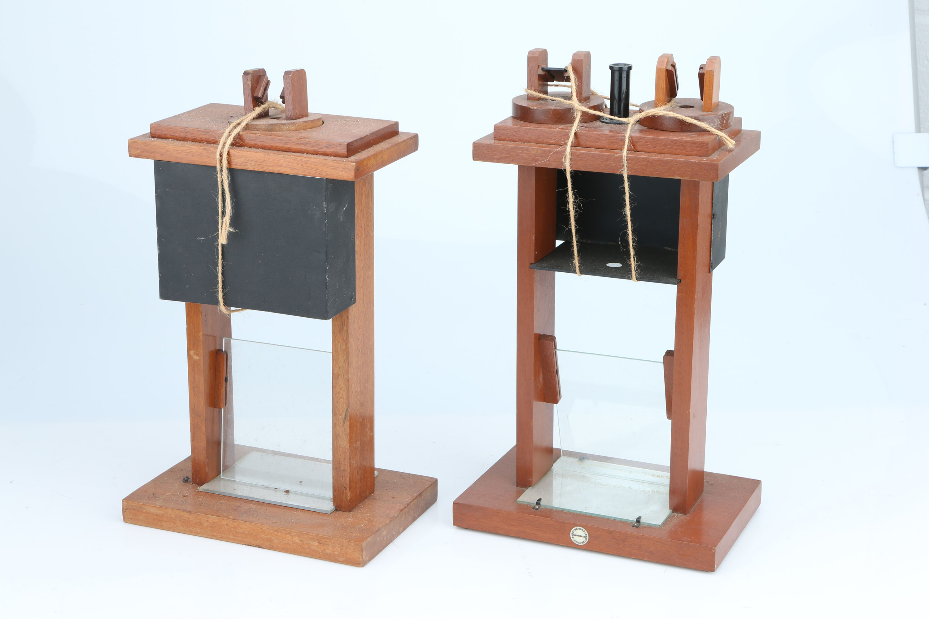 A Pair of Demonstration Polariscopes,