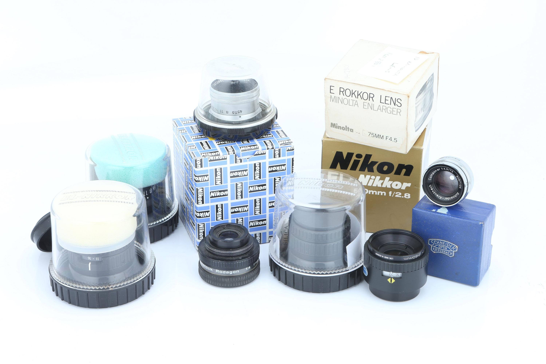 A Selection of Enlarger Lenses,