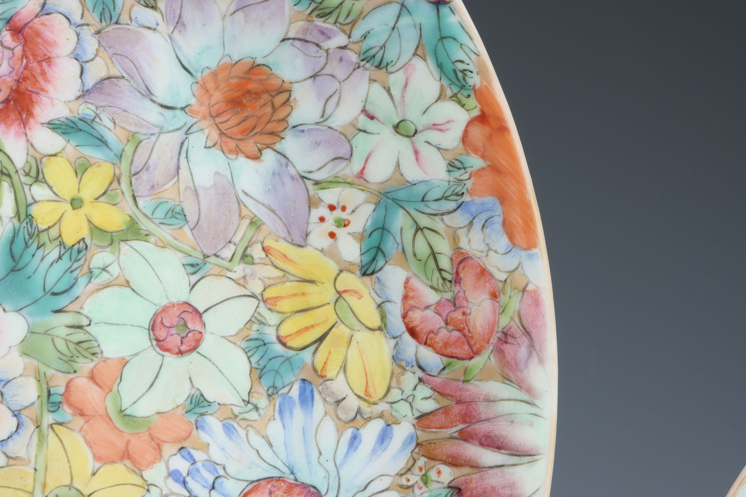 A Pair of Chinese Millefiore Shallow Bowls, - Image 4 of 6