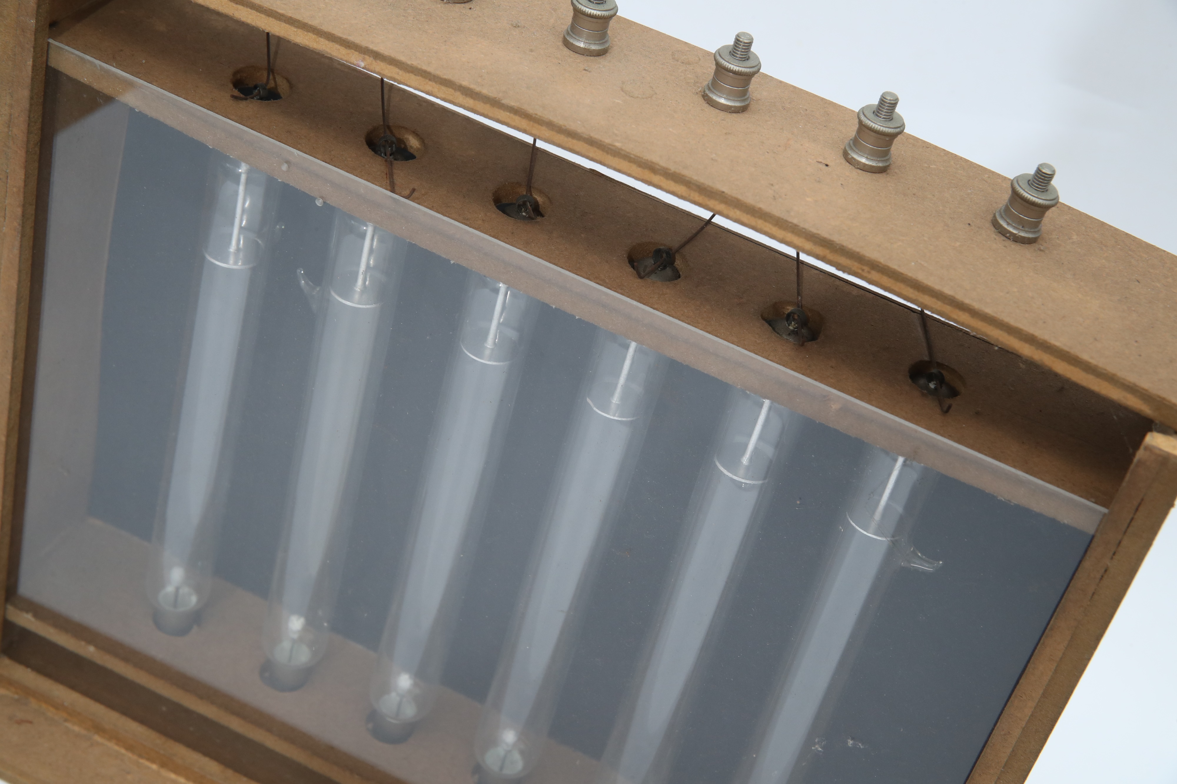 A Group of Geissler Discharge Tubes in a Frame, - Image 2 of 2