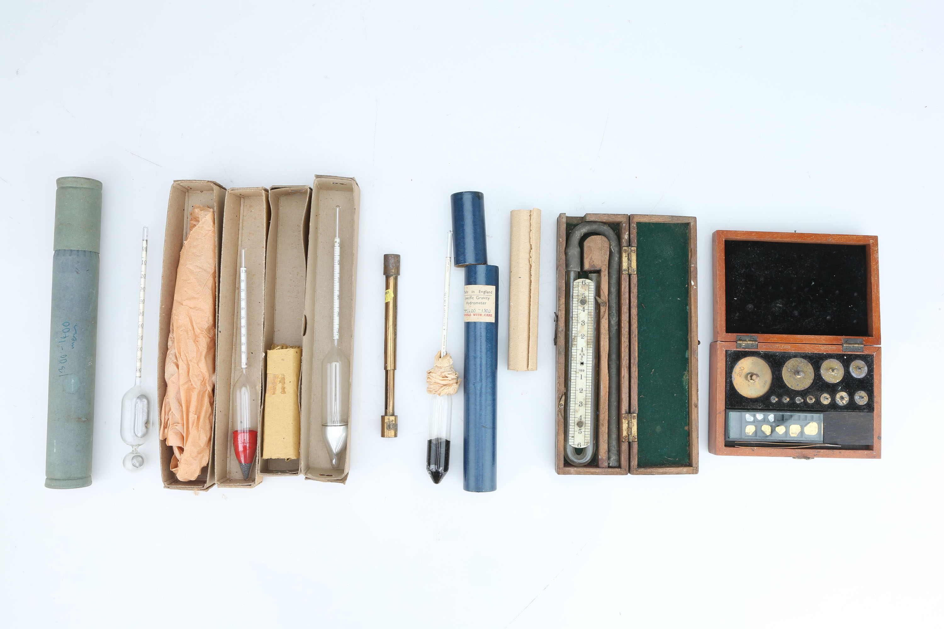Collection of Hydrometers & Weights