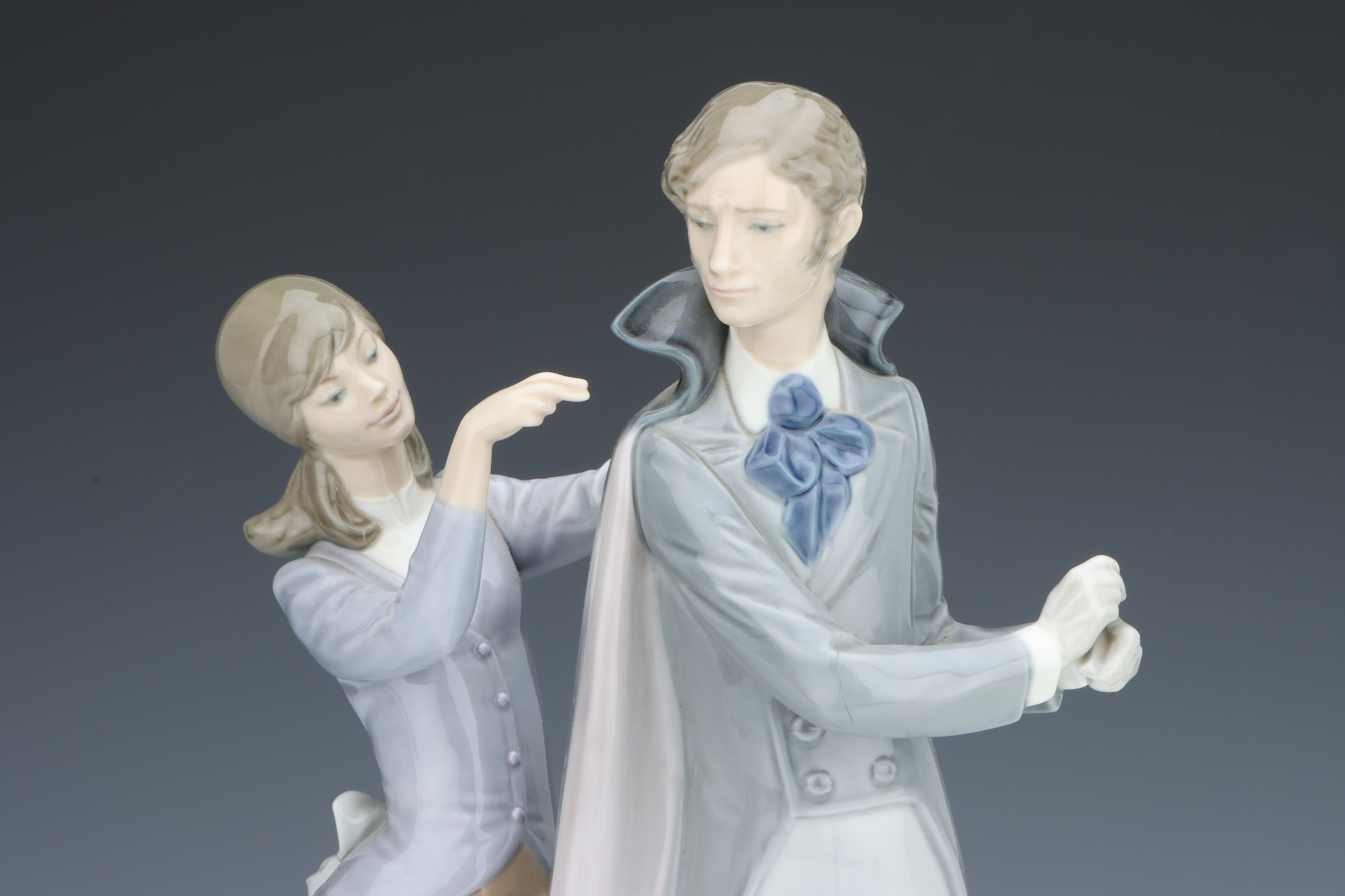 A Lladro Figure of a Gentleman & Lady, - Image 2 of 2