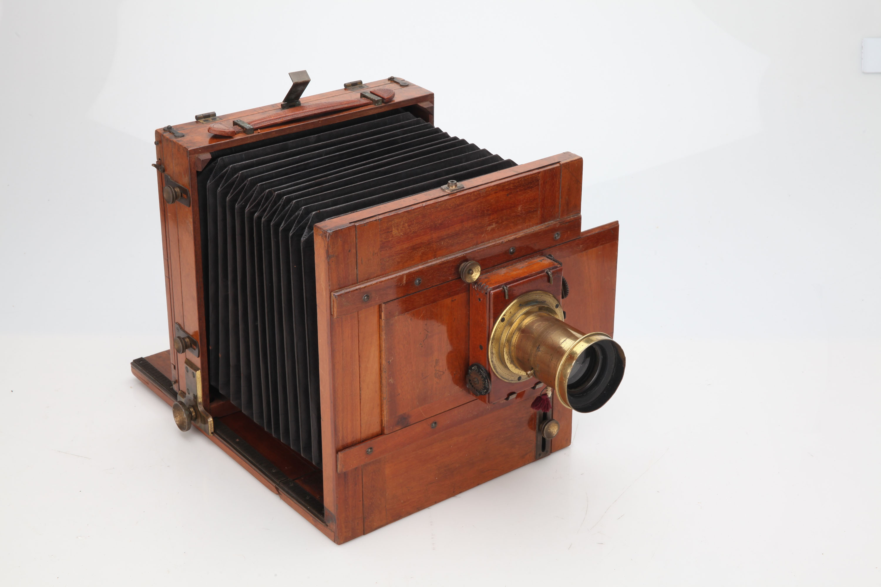 An Unmarked Stereo Mahogany & Brass Field Camera, - Image 3 of 3