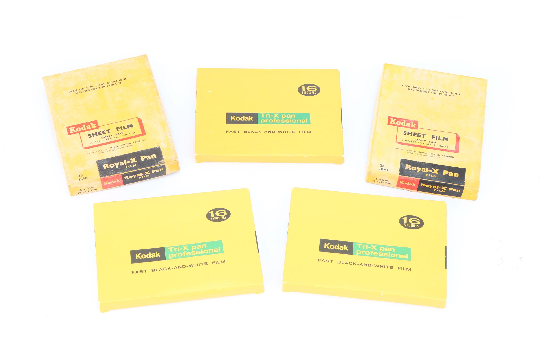 Five BOxes of Kodak 4x5' Sheet Film,