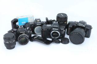 A Selection of Nikon SLR Cameras & Lenses,