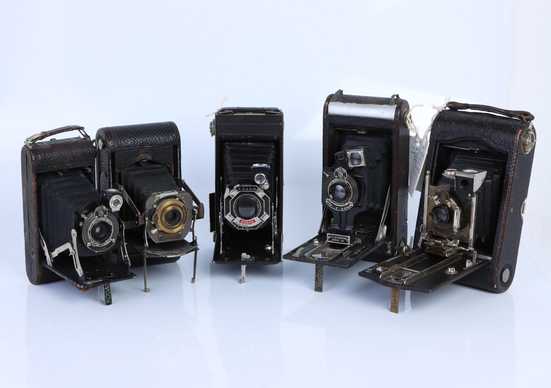 A Selection of Various Folding Cameras,