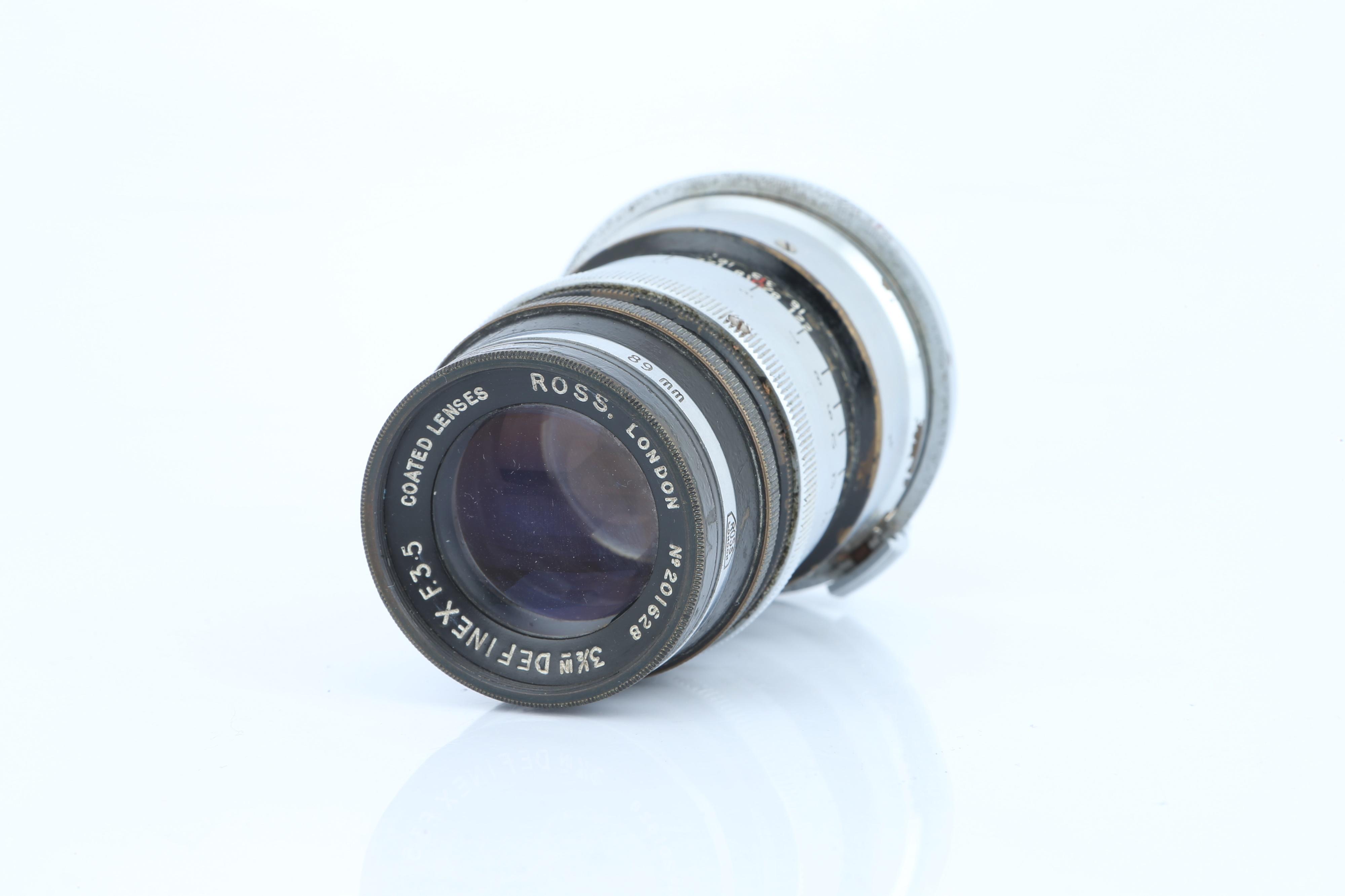 """A Ross Definex f/3.5 3½"""" Lens,"""