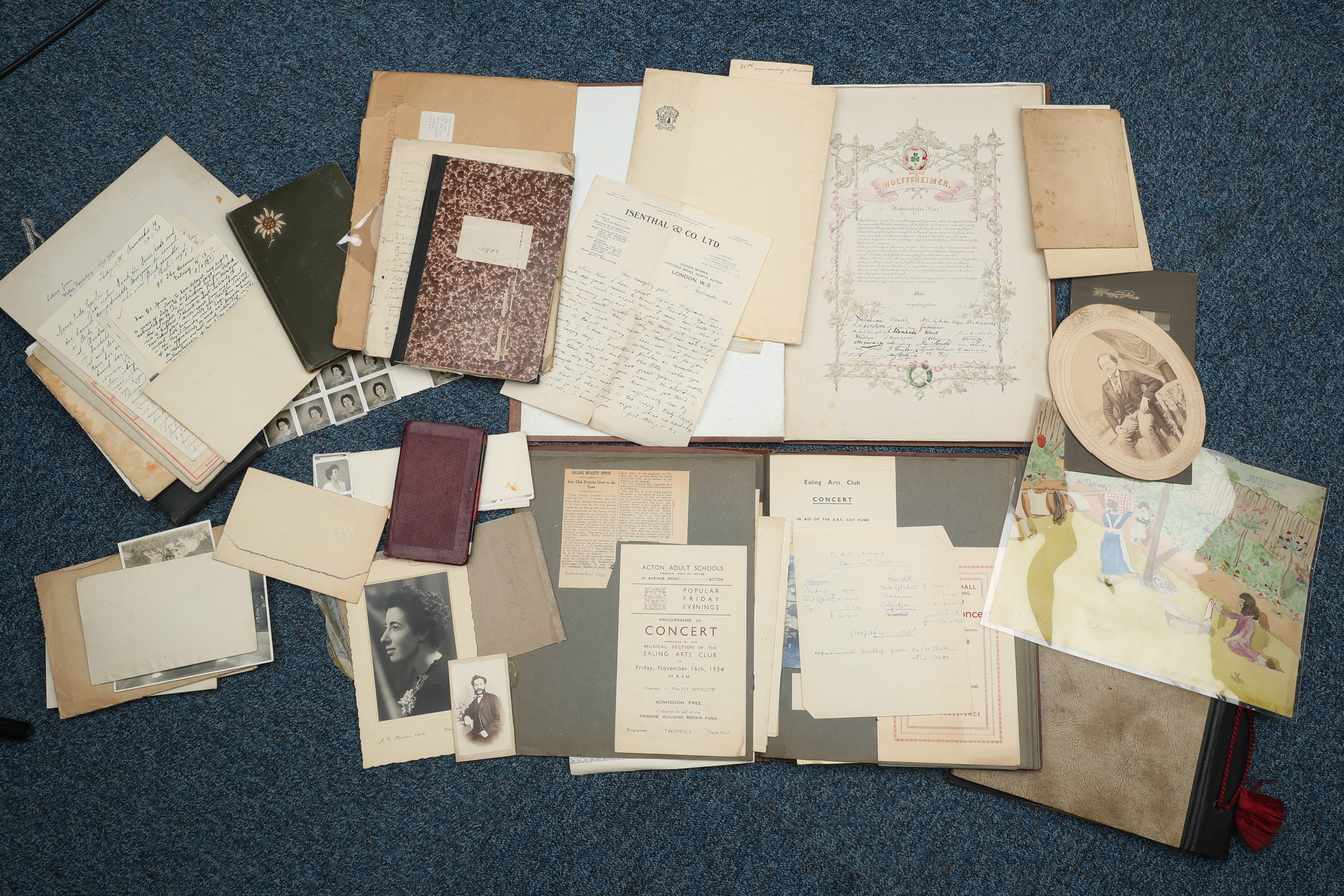 Collection of Documents & Photographs of the Isenthal Family,