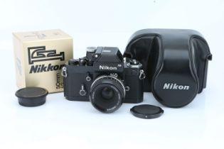 A Nikon F2 Photomic SLR Camera,