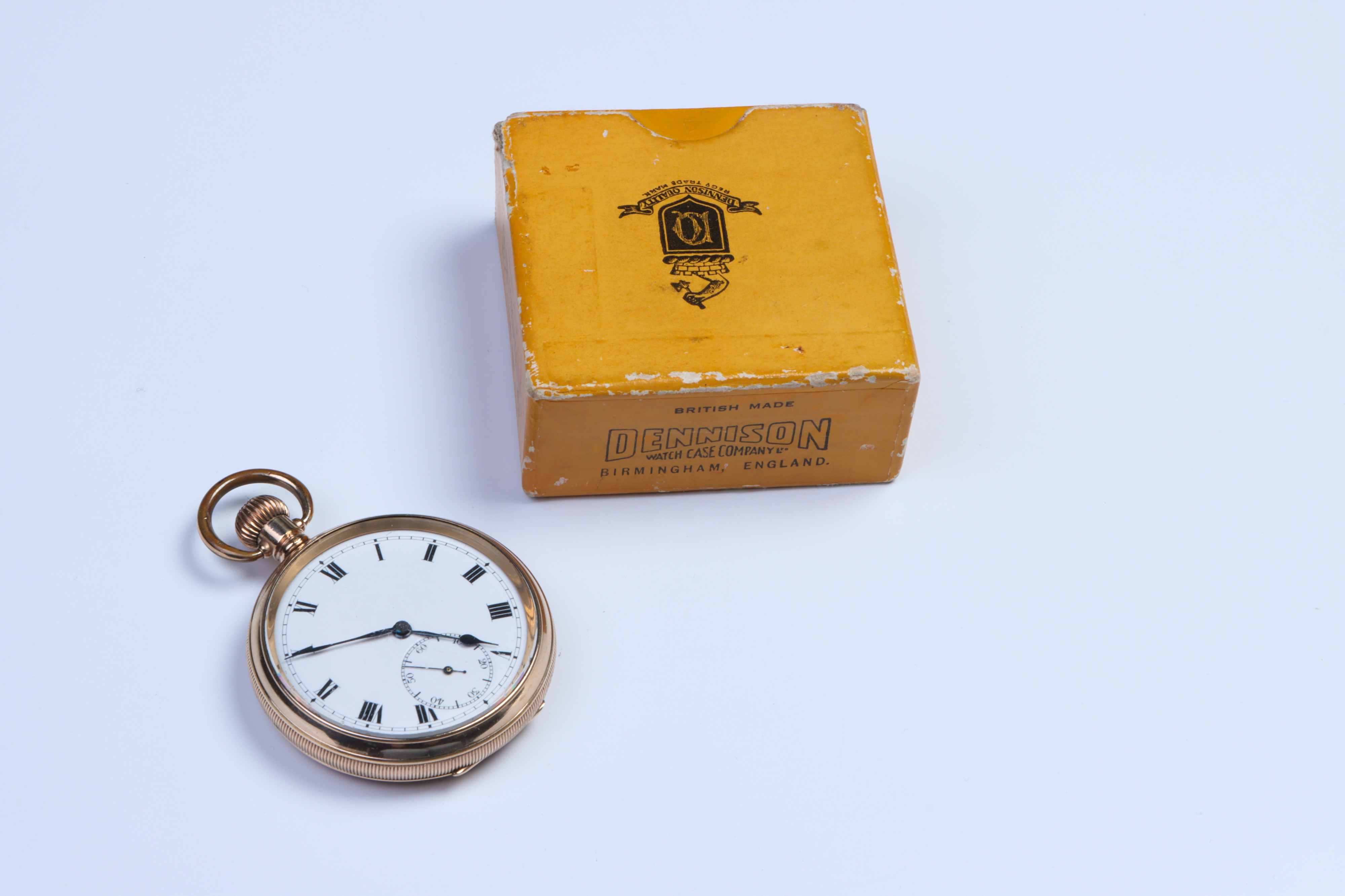 A Gold-Plated Pocket Watch, - Image 2 of 3
