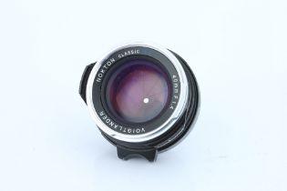 A Voigtlander Nokton Classic S.C. f/1.4 40mm Lens,