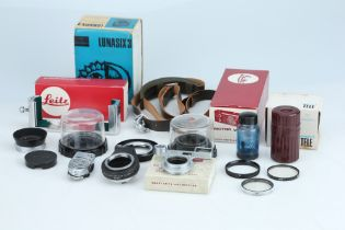 A Good Selection of Primarily Leitz Camera Accessories,