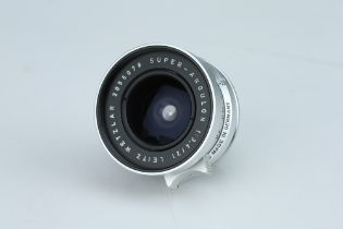 A Leitz Super-Angulon 21mm f/3.4 Lens,