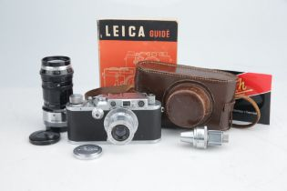 A Leica III Rangefinder Camera Outfit,