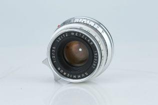 A Leitz Summicron 35mm f/2 Lens,