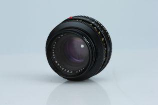 A Leitz Summicron-R 50mm f/2 Lens 2 Cam,
