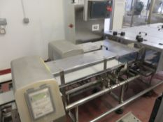 TWIN LANE COMBI SYSTEM COMPRISING CEIA METAL DETECTORS/IXAPACK CHECKWEIGHER.