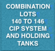 COMBINATION LOT - CIP SYSTEM AND HOLDING TANKS