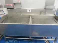SYSPAL DOUBLE SINK WITH DRAINER.