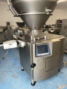 HANDTMANN 622 VACUUM FILLER WITH HIGH SPEED LINKING AND CUTTING.