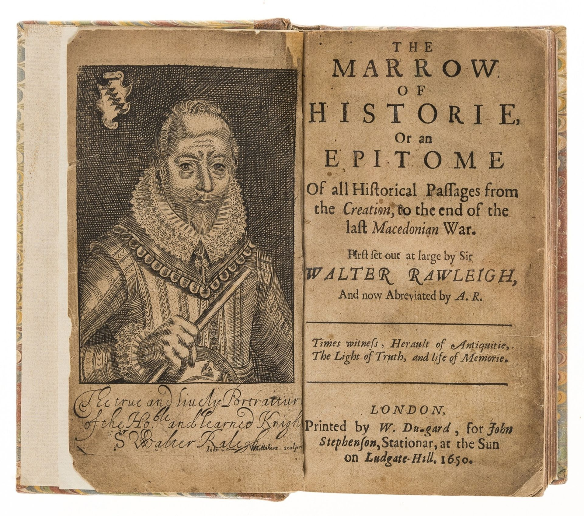 Raleigh (Sir Walter) The Marrow of Historie, or an Epitome of all Historical Passages from the …